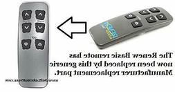 Beautyrest Renew Basic or T-120 Replacement Remote for Adjus