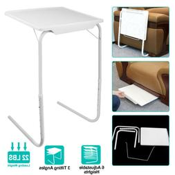 Foldable Table Adjustable Tray Laptop Desk Home Bed Office D