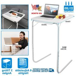 Folding Table Sofa Side TV Tray Snack Desk Assembled Bed Lap