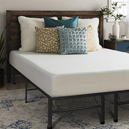 Crown Comfort 8-inch King-size Bed Frame and Memory Foam Mat