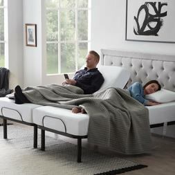 LUCID Steel Frame Adjustable Bed Base with Head/Foot Incline